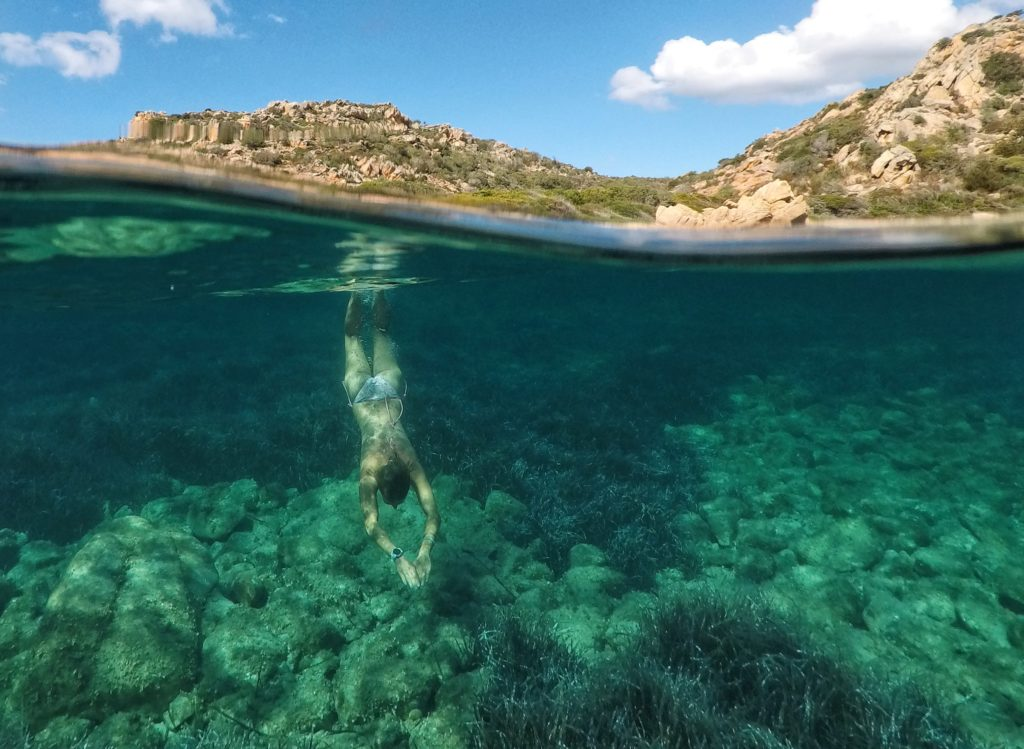 Diving photo in Sardina with the GoPole Dome and a GoPro Camera