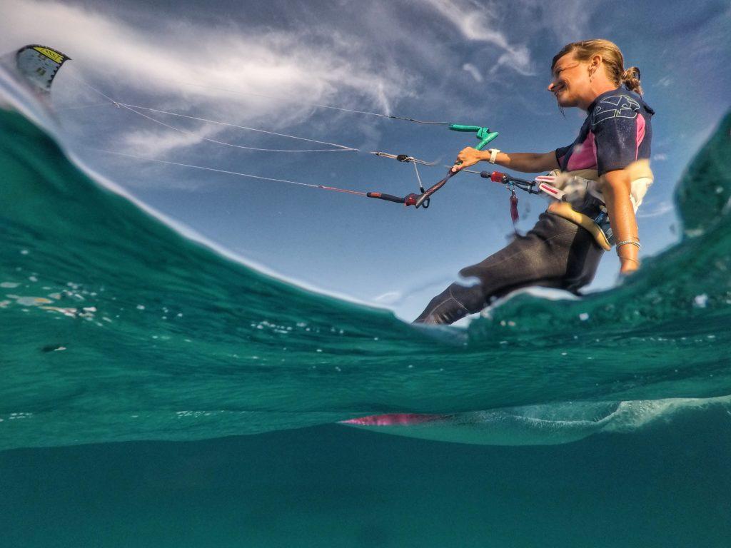 Kitesurfing in Sardina - taken with GoPole Dome