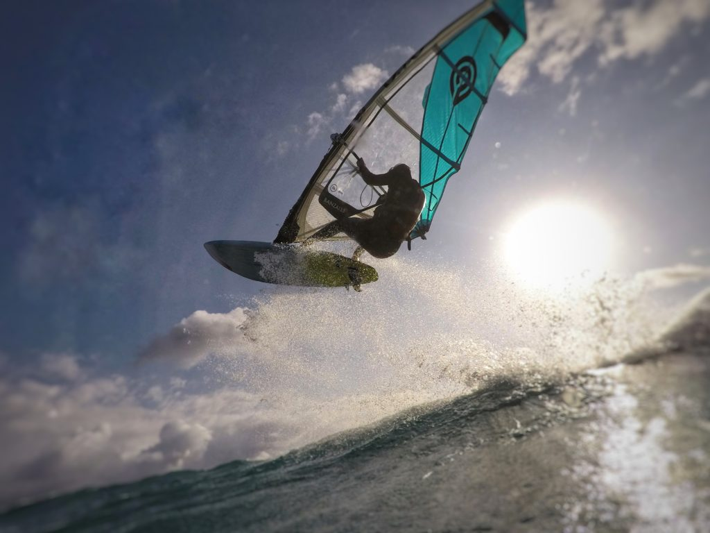Windsurfing Picture using the GoPole Dome