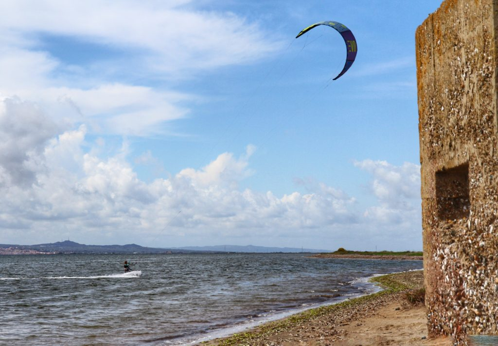 Kitesurfing at Porto Botte Sardinia