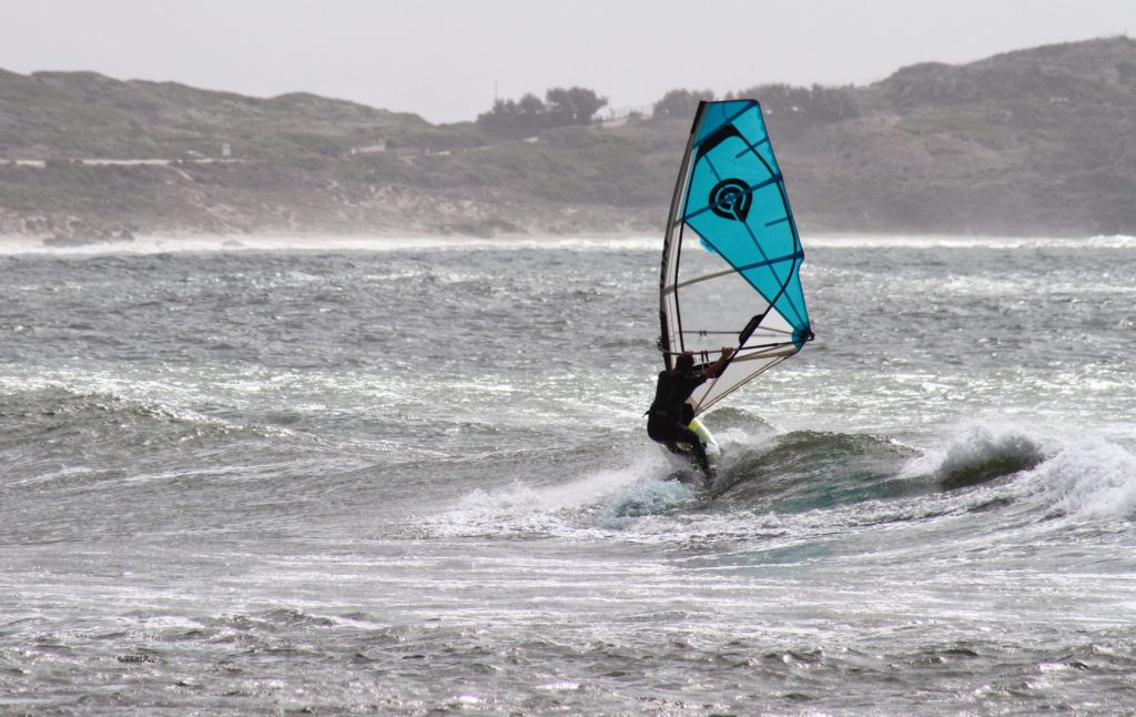 Windsurfing at Funtana Meiga Sardinia