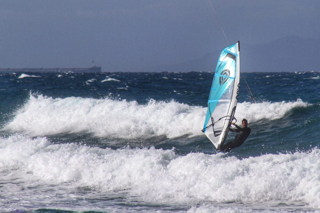 Windsurfing at Platamona Sardinia