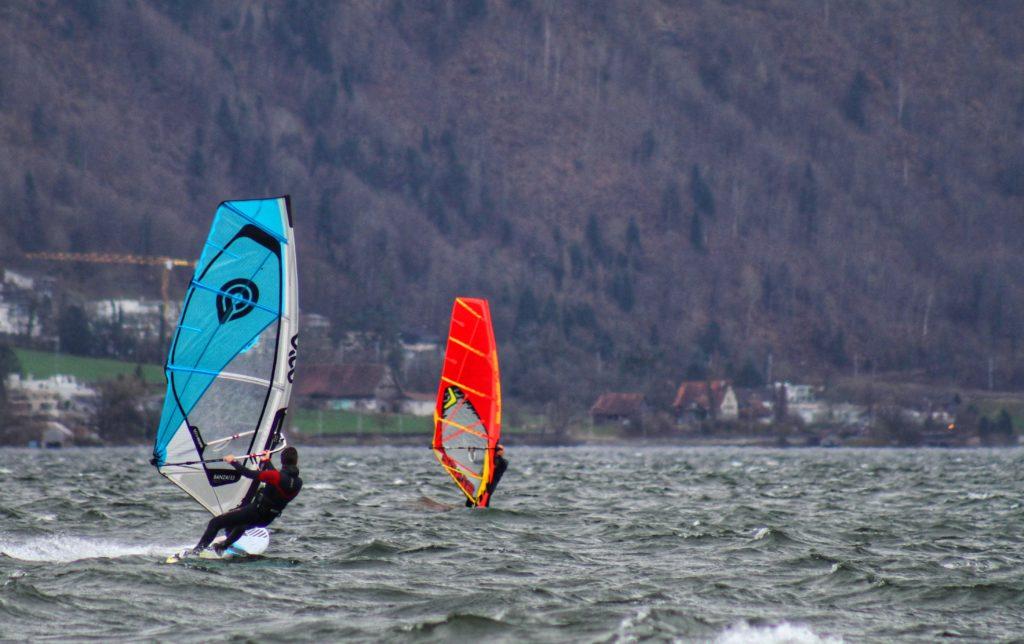 Windsurfing on Lake Zug