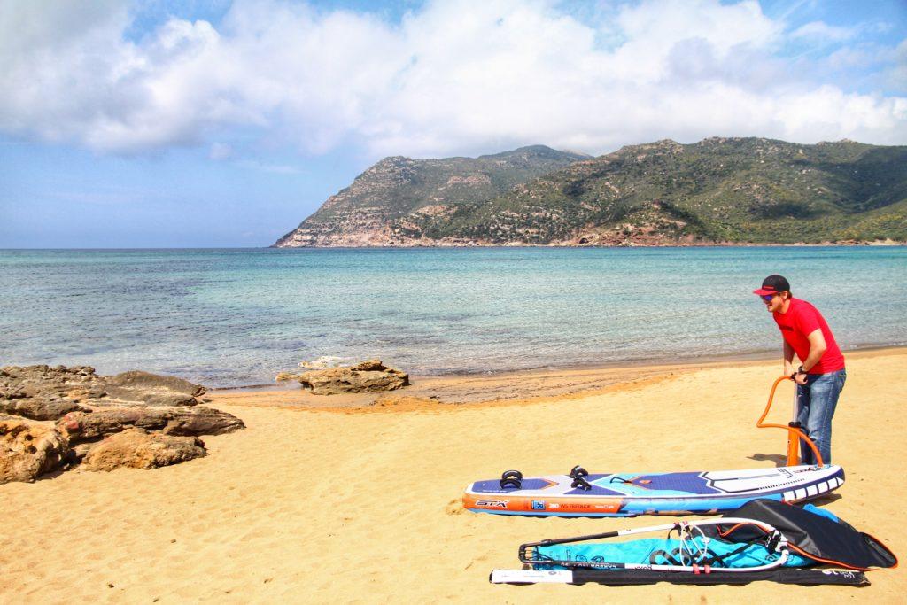 STX Windsurf Board on the Beach