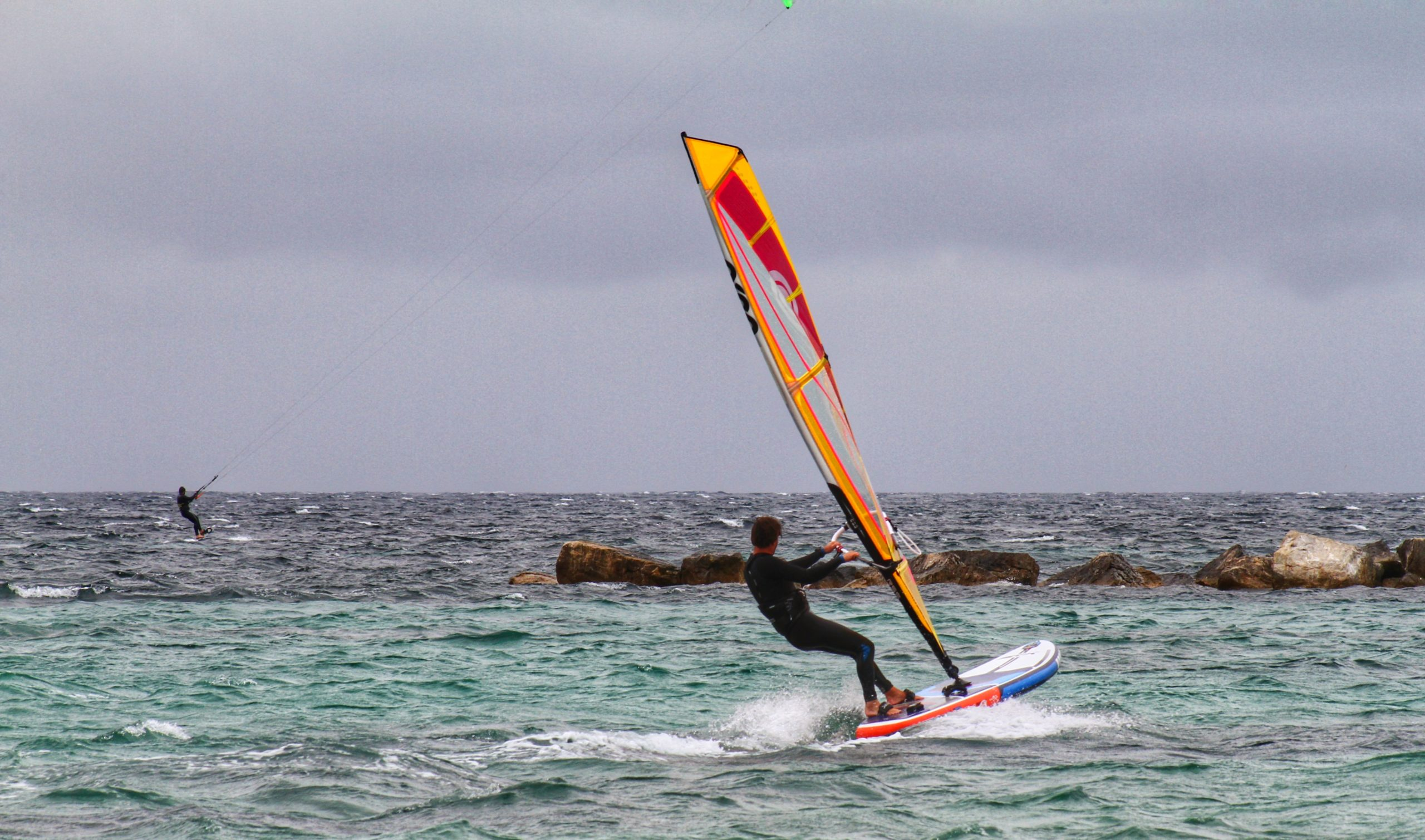 Windsurfing on the STX 280 Windsurf Board