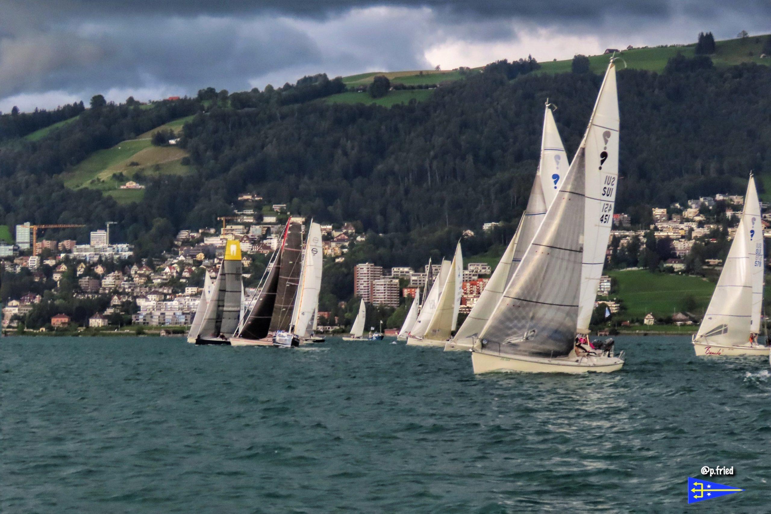 Sailing Regatta on Lake Zug